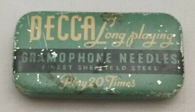 £18.97 • Buy Vintage Decca Gramophone Needle Tin And 53 Long Playing Needles Sheffield Steel