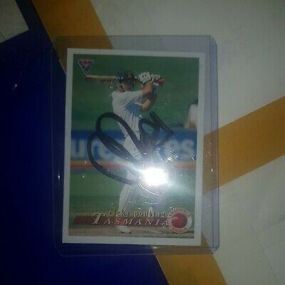 AU25 • Buy Ricky Ponting Cricket Signed Card