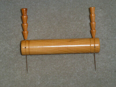 LACEMAKING LACE BOBBINS 10cm YEW LACE ROLL-UP BAR + 2 Pins • 4.50£