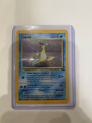 AU6.33 • Buy LAPRAS - Fossil Set - 10/62 - HOLO Rare - Pokémon Card - Unlimited Ed - EX
