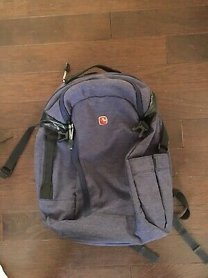 Swiss Army Gear Travel Back Pack! Multiple Storage Pockets! Navy Blue Color! • 35.76£
