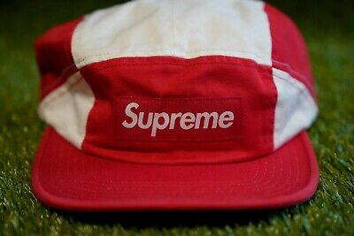 $ CDN37.97 • Buy Supreme Contrast Panel Camp Cap FW18 Week 8 Red Supreme Box Logo Hat