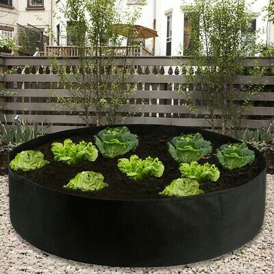 Fabric Raised Garden Bed 50 Gallons Round Planting Container Grow Bags Breathabl • 17.36£