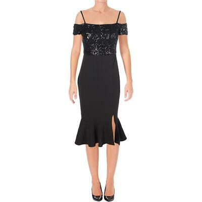 AU17.82 • Buy Guess Womens Black Special Occasion Off-The-Shoulder Party Dress 4  3572
