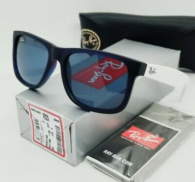 AU109.78 • Buy RAY BAN Transparent Blue  JUSTIN COLOR MIX  RB4165 651180 55 Sunglasses! NEW!
