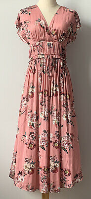 AU35 • Buy Forever New - Cap Sleeve Satiny Floral Long Dress - Size 8