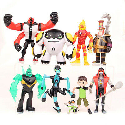 9 Pcs Ben 10 Four Arms Grey Mat 5  PVC Action Figure Doll Toys Model Cake Topper • 13.99£