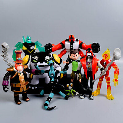 9 Pcs Ben 10 Four Arms Grey Mat 5  PVC Action Figure Doll Toys Model Cake Topper • 2.20£