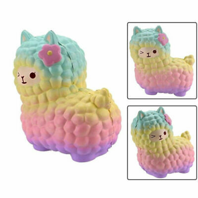 AU13.99 • Buy Jumbo Sheep S Quishy Cute Alpaca Galaxy Super Slow Rising Scented Fun Animal Toy