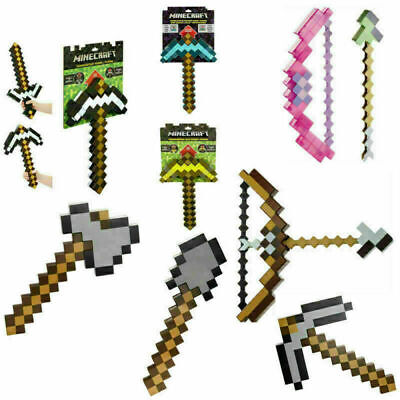 AU45 • Buy Toy Minecraft Games Transforming Diamond Sword Pickaxe Hoe Bow And Arrow Shovel