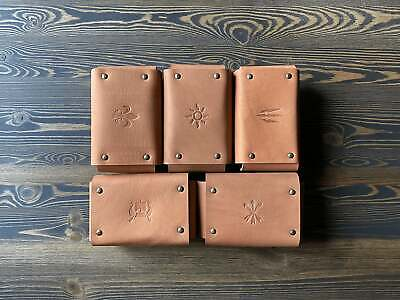 $ CDN185.60 • Buy Set Of 5 Leather Pouches Faction Emblems Gwent Decks The Witcher