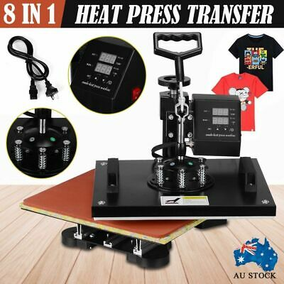 AU284.69 • Buy 8 In 1 Heat Press Transfer T-Shirt Mug Hat Sublimation Printer Printing Machine
