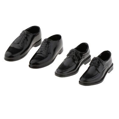 $12.18 • Buy 2 Pairs 1/6 PU Leather Shoes For 12inch BBI Enterbay Male Figures Accessory