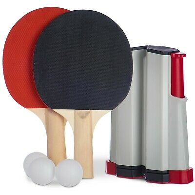 Portable Table Tennis Game Instant Indoor Travel Ping Pong Ball Set Extendable  • 9.99£