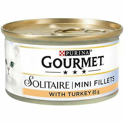 Gourmet Solitaire Tinned Cat Food With Turkey 85g (Pack Of 12) • 13.23£