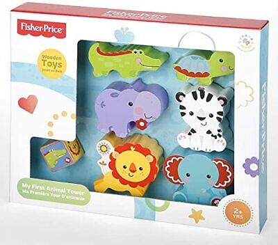 £7.95 • Buy Fisher Price My First Animal Tower Pretend Play Wooden Toy Educational Skills