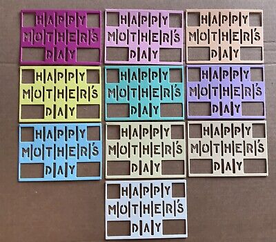 £1.99 • Buy 10 'happy Mother's Day' Card Die-cut Toppers