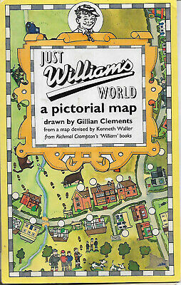 Just William's World A Pictorial Map By G Clements From Richmal Crompton Books • 1.99£