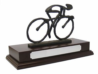 £44.95 • Buy Personalised Cycling Bike Racing Trophy Award On Wooden Base Engraved