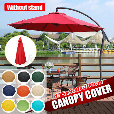3x3m Replacement Fabric Parasol Canopy UV Cover For Outdoor Garden Arm  C F • 33.25£