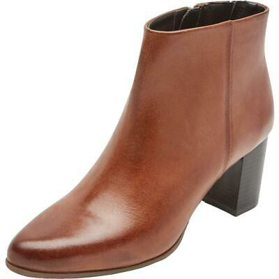 Rockport Womens Camdyn Brown Leather Booties Shoes 9 Medium (B,M)  2670 • 19.54£