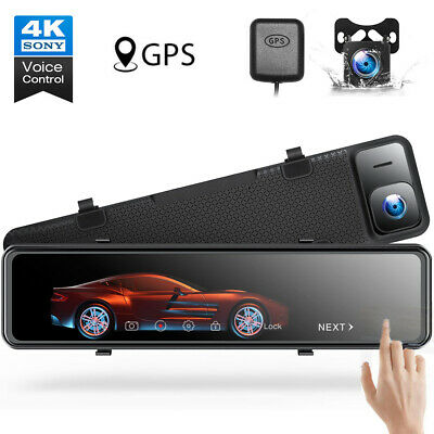 AU206.91 • Buy TOGUARD 4K Mirror Dash Cam Backup Camera For Cars Voice Control GPS Tracking AU