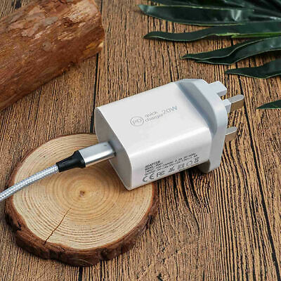 £6.99 • Buy UK Plug USB-C Type C Fast Wall Charger Adapter PD 20W For IPad IPhone 12 Pro Max