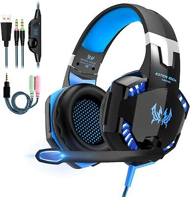 AU26.99 • Buy 3.5mm Gaming Headset MIC LED Headphones Surround For PC Mac Laptop PS4 Xbox One