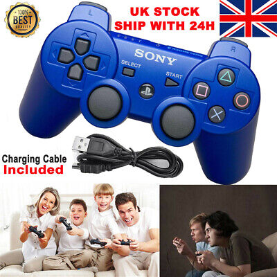 HOT PS3 Controller PlayStation DualShock 3 Wireless SixAxis GamePad Blue UK • 10.99£
