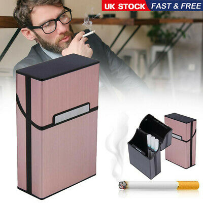 U K Metal Cigarette Case Aluminum Tobacco Holder Storage Container Pocket Box • 5.62£