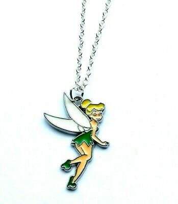 £2.99 • Buy Tinkerbell Fairy Charm Pendant Necklace Girls Jewellery In Gift Bag
