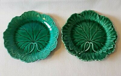 £75 • Buy Wedgwood Majolica Cabbage Leaf Plates X 2