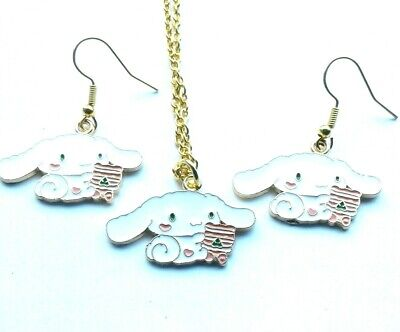£6.99 • Buy Sanrio Cinnamoroll Puppy Necklace Charm Earrings Hello Kitty My Melody Gift Box