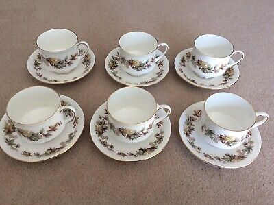 Royal Standard Tea Cups & Saucers (Lyndale Bone China) Set Of 6 • 19.99£
