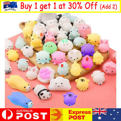 AU8.99 • Buy 10/50PC Cute Animal Squishies Kawaii Mochi Squeeze Toys Stretch Stress Squishy