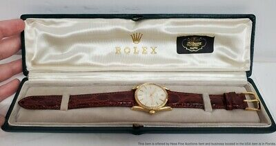 $ CDN2945.46 • Buy Vintage Bombe Rolex Oyster Perpetual Mens Gold Watch W/ Box