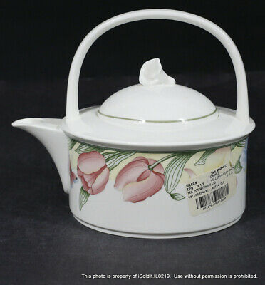£10.80 • Buy 2-PC VILLEROY & BOCH BONE CHINA CANARI Mettlach Teapot With Lid TULIP 4-Cup