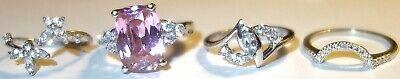 $ CDN12.56 • Buy Fantastic LOT Of FOUR (4) ASSORTED Antique/Vintage STERLING SILVER RINGS~LOT#2!