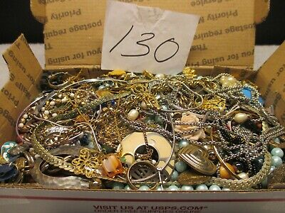 $ CDN44.17 • Buy Large Vintage To Now Estate Find Jewelry Lot,  JUNK DRAWER  Unsearched Untested