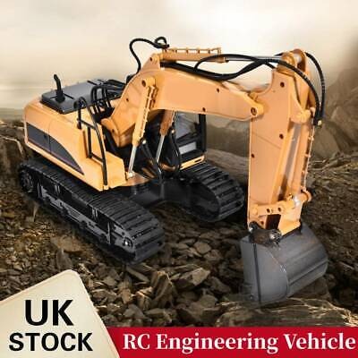 RC Excavator 1:14 2.4GHz 15 Channel Remote Control Digger Truck Toy Kids Gift • 51.18£