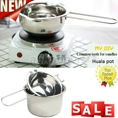 2x Stainless Steel Wax Melting Pot Double Boiler For DIY Candle Soap Making • 6.65£