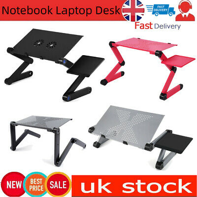 Adjustable Foldable Laptop Desk Computer Table Stand Tray For Bed Sofa Styles • 17.99£