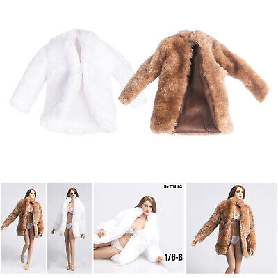 $16.31 • Buy 1/6 Scale Womens Fur Coat Clothing For BBI DID Enterbay Figures Accessories