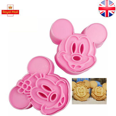 £5.99 • Buy Mickey Mouse Minnie Cookie Cutter Shapes Cute Set Of 2 Baking Stencil Mould UK