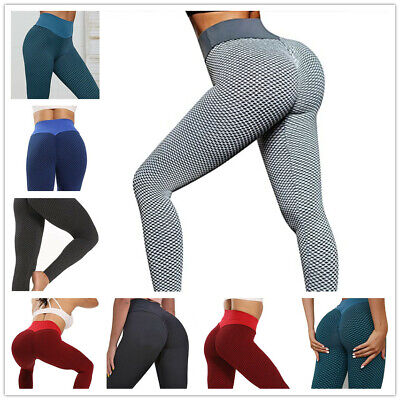 Women High Waist Yoga Pants Anti-Cellulite Leggings Butt Lift Sport Gym Booty • 15.98£