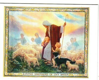 Margaret Tarrant Loving Shepherd Of Thy Sheep Medici Easter Greeting Card • 1.75£