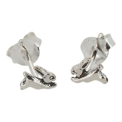 £4.99 • Buy Sterling Silver Rabbit Hare Design Stud Earrings By Touch Jewellery -925