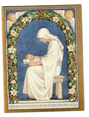 Margaret Tarrant Medici Christmas Greeting  Card Jesus Christ Her Little Child  • 1.99£