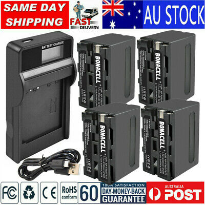 AU41.99 • Buy 8700mAh NP-F960 Battery/LCD Charger For Sony NP-F950 NP-930 NP-F970 F930 VSN013C