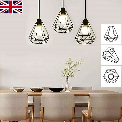 £6.99 • Buy Industrial Wire Cage Retro Ceiling Pendant Light/lamp Shade Metal Easy Fit